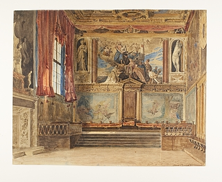 Timænds-rådets sal i Dogepaladset i Venedig