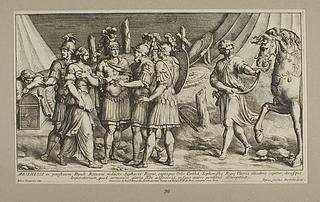Masinissa in potestatem Populi Romani redacto Syphacis Regno captàque Urbe Cirthà Sophinisbe Regie Uxoris illecebris capitur (Masinissa og Sofonisba)