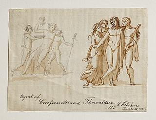 Bacchus og to fauner. Bacchus, Herkules og to kvinder