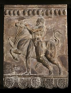 Campanarelief med Herkules i kamp med den kretensiske tyr. Romersk