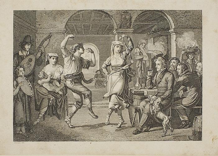 Saltorello-dans i et romersk osteri
