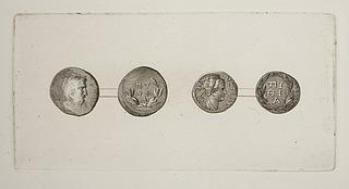 Græske mønter for- og bagside