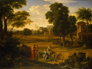 Heroisk landskab med Ruth og Boas