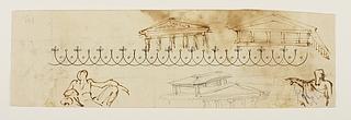 Arkitekturskitser. Flodguder