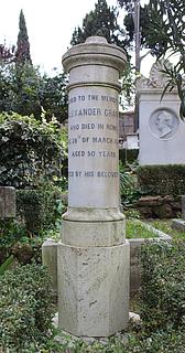 Gravmæle for Alexander Grant, Den protestantiske kirkegård, Rom