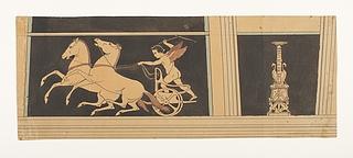 Amorin driver to heste frem. Kandelaber
