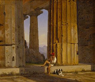 Parti af Poseidon-templet i Pæstum