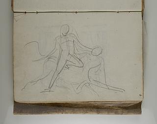 En heros (Theseus?) i kamp med kentaur