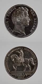 Medalje forside: Ludvig 1. Medalje bagside: Maximilian 1.