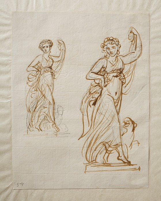 Danserinde (Ariadne?) med et panterdyr