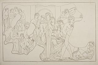 Figurscene med Zeus