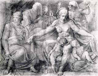 Asmus Jacob Carstens: Natten med sine børn, 1795