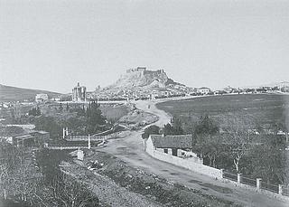 Ukendt fotograf/Dimetrios Constantinou? Udsigt fra Ardettos Højen, 1860erne