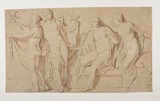 Alcibiades(?) blandt hetærer