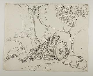 Don Quixote sover i hulen i Montesinos