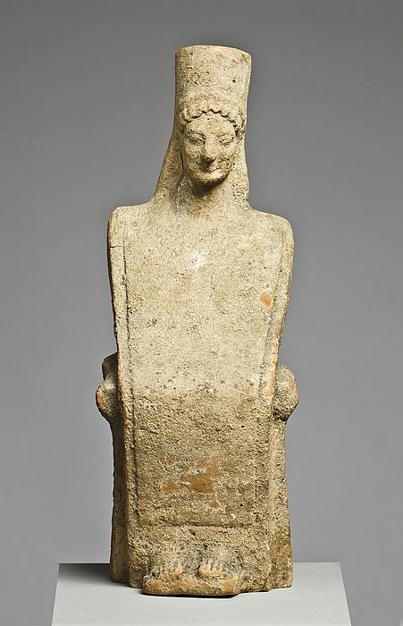 Statuette af en siddende kvinde. Vestgræsk