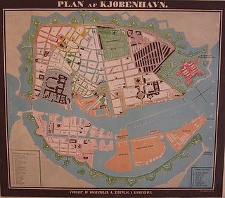 Kort over København, 1850, Københavns Stadsarkiv, kort.nr. A 1850 ca. /1
