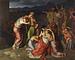 J.L. Lund: Andromache i afmagt ved synet af Hektors lig, 1807, olie på lærred. 248 x 313 cm (beskåret, oprindelig 264 x 320 cm), Den danske stat, deponeret i Den danske ambassadørs bolig, Rom