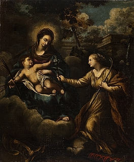 Madonna med barnet og Martha