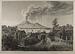 Pompeji med udsigt til Vesuv i udbrud 1838