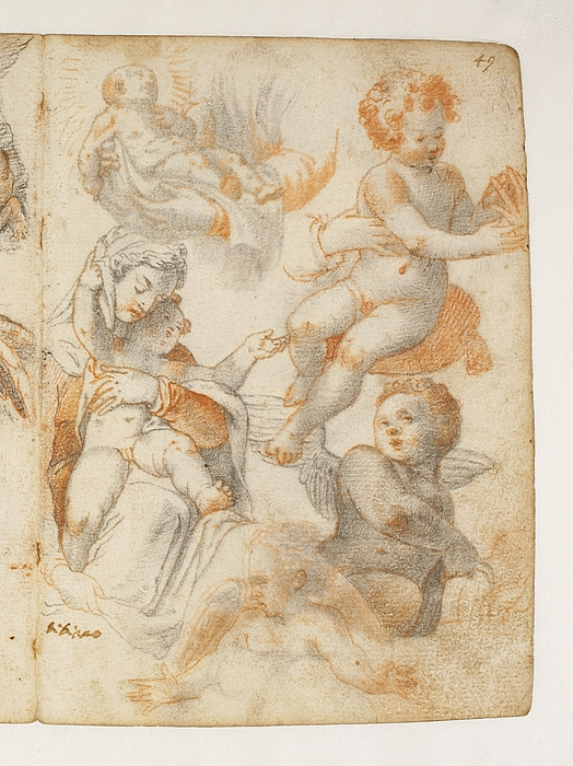 Maria med barnet. Engle