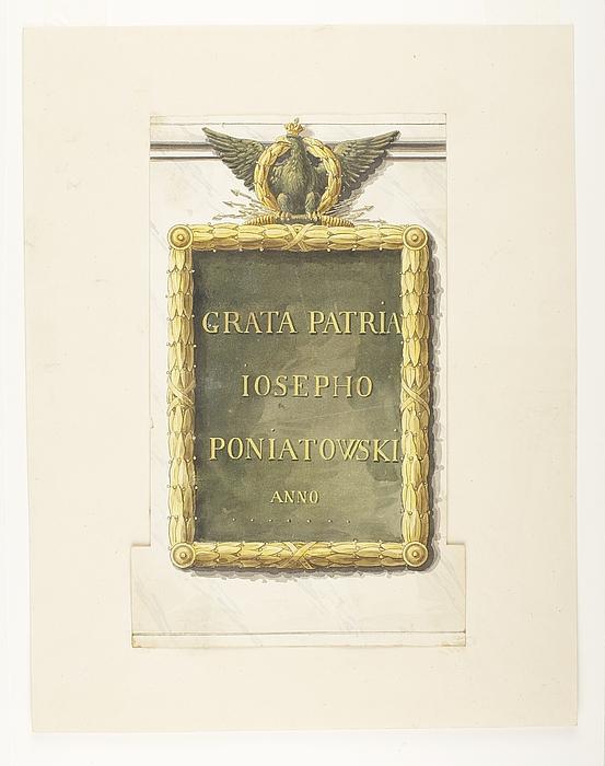 Inskriftsplade til monument over Józef Poniatowski