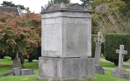Mindesten over familien Bonar, St. Nicolas-kirkegården i Chislehurst