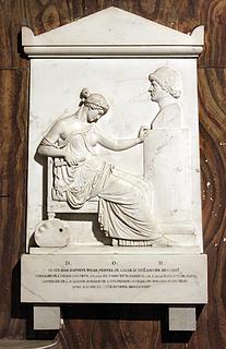 Filippo Gnaccarini: Gravmæle for Jean-Baptiste Wicar, S. Luigi dei Francesi, Rom