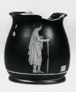 Drikkekop med stående yngling. Græsk