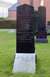 NN: Christian Wilster, gravsten, kirkegården ved Sorø Klosterkirke