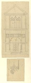 Romersk kirkefacade. Gotisk vindue