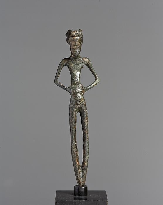 Priapus. Plastisk udformet hank til romersk øse