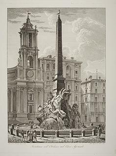 Fontana coll' Obelisco nel Circo Agonale ( Fontana dei Quatro Fiumi )