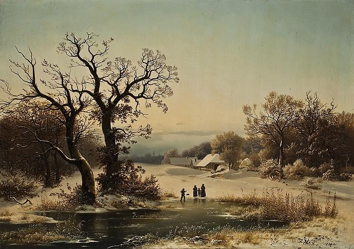 Vinterlandskab ved Bordesholm