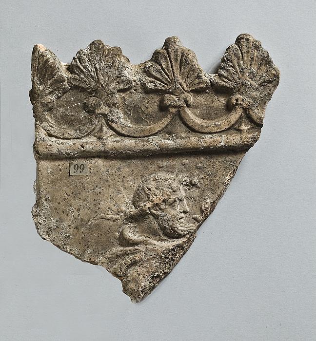 Campanarelief med hoved af satyr. Romersk