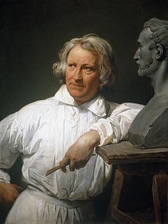 Horace Vernet, Portræt af Thorvaldsen i færd med at modellere Vernet-busten, 1833, Thorvaldsens Museum