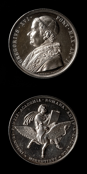 Medalje forside: Pave Gregor 16. Medalje bagside: Lukas