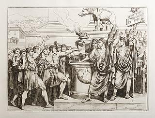 Bruto, e Collatino primi consoli di Roma, giurano in presenza del Popolo Romano, un esilio perpetuo alla famiglia da Turquinj (Brutus og Collatinus sværker evigt eksil til Turqini-familien)