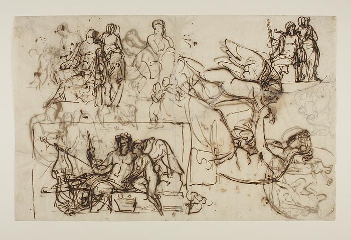 Amor klager til Venus over et bistik. Herkules og Hebe. Amor og Anakreon