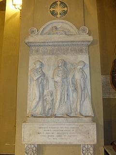Costantino Brumidi: Gravmæle for Gregorio-Maria Terenzi, i: SS. Quirico e Giulitta, Rom