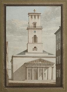 Vor Frue Kirke i København set fra Studiestræde