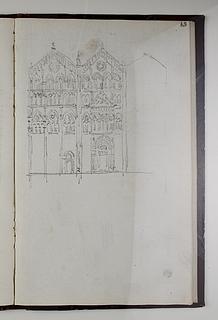 Domkirken i Ferrara, opstalt af facade