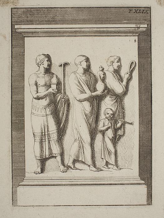 Optog af tre mænd og et barn