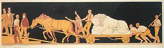 Sonnes Frise. Schweizerløven - Copyright tilhører Thorvaldsens Museum