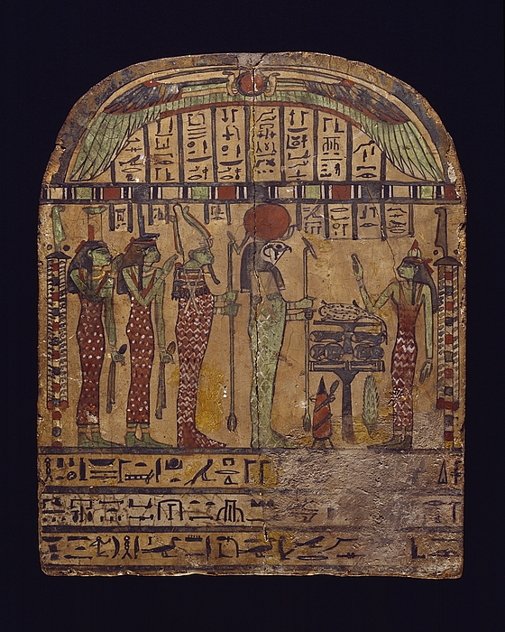 Gravstele for pigen Neswer. Ægyptisk, ptolemæertiden