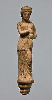 Statuette af en kvinde med en alabastron. Vestgræsk (?)