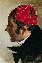 Franz Ludwig Catel, Selvportræt, c. 1850