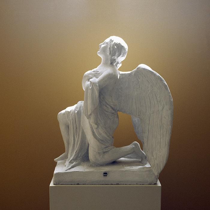Kn?lende engel
