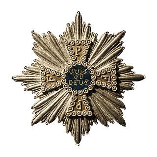 Bryststjerne til storkorset til den bayerske Skt. Michaels fortjenesteorden