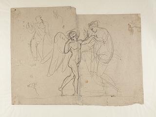 Amor klager til Venus over et bistik. Bacchus